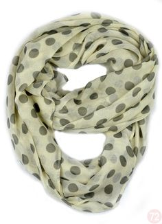 Women's Polka Dot Viscose Infintiy Scarves