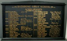English School Honors Board from Liverpool England Circa. 1940's Fanshawe Blaine
