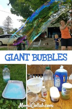 Camping Activities Discover How to Make A Bubble Solution That Gives You The Best Giant Bubbles Giant bubbles recipe - diy how to make bubbles wand for huge bubbles. A solution that works and is fun for kids. Giant Bubble Recipe, Giant Bubble Wands, Bubble Diy, Giant Bubbles, Bubble Recipes, Bubble Party, Giant Bubble Solution, Bubble Solution Recipe, Giant Outdoor Games