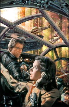Star Wars - Han Solo and Leia by Dave Seeley