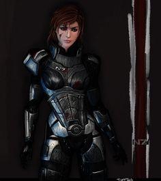 Commander Shepard by TuftTail.deviantart.com on @deviantART