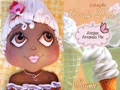 6 candy dolls + sorvete + amanda pin