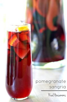 Pomegranate Sangria is my go to red wine cocktail for my Thanksgiving and Christmas dinners.