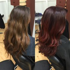Red light brown balayage
