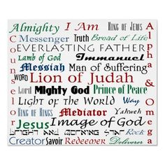 The names of God.
