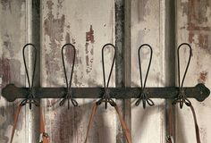 Vintage Style Wire Metal Coat Rack