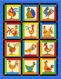 Funky Chickens quilt.  (this is a free BOM quilt that started Jan 1st 2012)