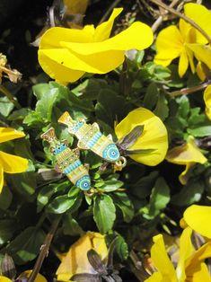 Ohrhänger Fische Blau und Grüntöne Muster   Etsy