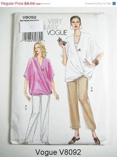 On Sale Vogue Sewing Pattern V8092  Misses' by ThePatternSource, $6.00
