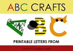 Printable letters for alphabet crafts Abc Crafts, Alphabet Crafts, Letter A Crafts, Preschool Crafts, Alphabet Letters, Animal Crafts, Preschool Literacy, Preschool Letters, Kindergarten