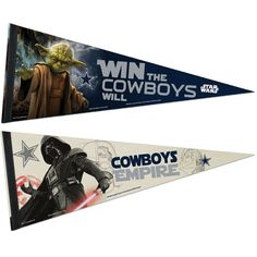 Dallas Cowboys NFL Star Wars Dark Side/Light Side Premium Pennant 2pc