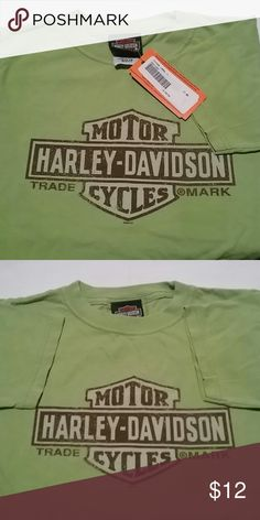 ***HARLEY-DAVIDSON*** KIDS TEE Short Sleeve Super Soft HARLEY-DAVIDSON Logo Tee!!! Dusty Green Kids XS. From Altantic City N J Dealership. New With Tags. Never Worn. Unisex. See seperate listings for 2 other Harley Davidson Short Sleeve Tees. Pink  Girls JR. XL and Mens Orange XL! Harley-Davidson Shirts & Tops Tees - Short Sleeve