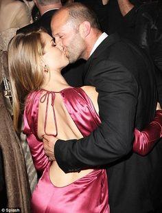 Rosie Huntington-Whitely gets Kiss from Jason Statham in NY Gala