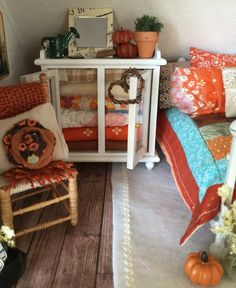 A personal favorite from my Etsy shop https://www.etsy.com/listing/247349982/glass-hutch-filled-with-fall-quilts-and