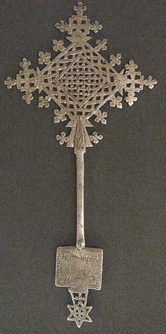 Ethiopian Blessing Cross  Ethiopian (Coptic), an early 19th century han...