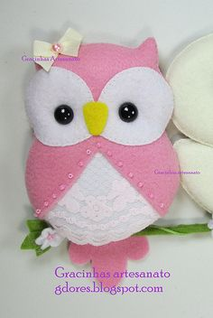felt little owl for nursery decoration