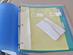 Turn a ziplock into a binder storage bag (for loose items, flash cards, paperback novels, etc.).