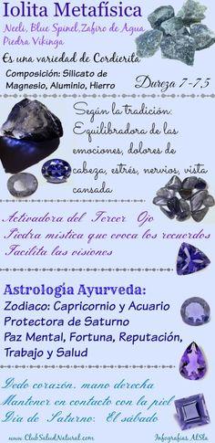 Iolita Curiosidades y Beneficios de la Piedra Mineral - Club Salud Natural  Iolita, también llamada antaño zafiro de agua (este nombre está prohibido en la actualidad), el nombre de esta bella piedra mineral proviene del Griego ios que significa violeta.