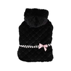 Pinkaholic New York Faux Fur Hooded Pet Arctic Cape Small Black *** Want additional info? Click on the image.