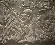 Harper's songs were lyrics composed in ancient Egypt to be sung at funeral feasts and inscribed on monuments. They derive their name from the image which accompanies the text on tomb or chapel. Ancient Music, Ancient Egypt Art, Ancient Artifacts, Ancient History, European History, Ancient Aliens, Ancient Greece, American History, Leiden