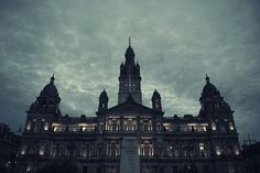 A storm is coming up over the Chambers of Glasgow