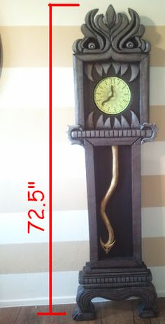 DIY Nightmare Before Christmas Halloween Props: Disneyland& Haunted Mansion 13 Hour Clock Build Tutorial - Nightmare Before Christmas Decorations, Nightmare Before Christmas Halloween, Holidays Halloween, Happy Halloween, Disney Holidays, Disney Halloween, Halloween Crafts, Halloween Decorations, Halloween Tutorial