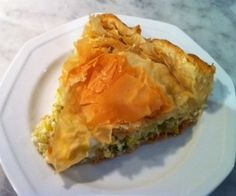 Leek and Feta Phyllo Pie.  This is a Macedonian dish called zelnik.  It's to die for!  Here is the link for the recipe on my blog: http://www.brigitteskitchenandhome.blogspot.ca/2013/06/leek-and-feta-pie-aka-zelnik.html