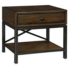 1-drawer nightstand in mink with open bottom shelf and x-crossed back.   Product: NightstandConstruction Material: ...