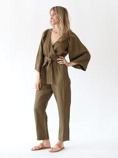 6611f1b996e1 APIECE APART - Meru Wrap Jumpsuit in Pachu Mama Spring Wear