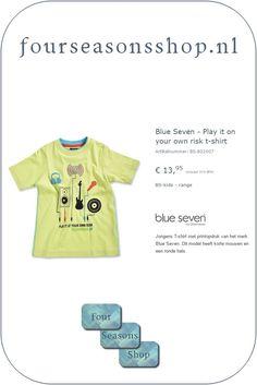 Play it on your own risk t-shirt #fourseasonsshop.nl #jongensshirt Four Seasons, Vans, Play, T Shirt, Fashion, Supreme T Shirt, Moda, Tee Shirt, Fashion Styles