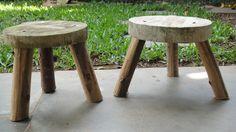 banquinhos de madeira