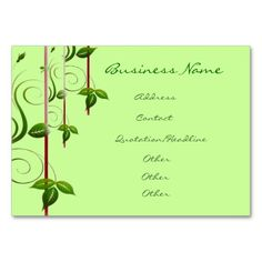 Green Life Business Cards by elenaind  @Italian_Style