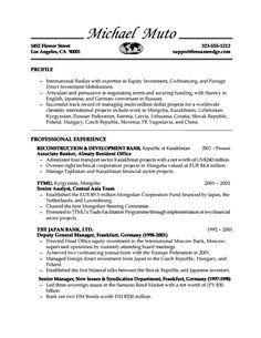 Investment Banking Resume Template Marketing Resume Examples  Httptopresumemarketingresume
