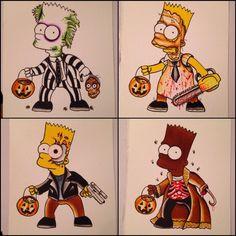 I want beetlejuice Bart Simpsons Tattoo, Simpsons Art, Simpsons Halloween, Halloween 2, Bart Simpson, American Traditional Sleeve, Los Simsons, Cartoon Junkie, Simpsons Treehouse Of Horror