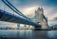 Londons Tower Bridge by antonyz  sky city water river travel british clouds europe tower urban architecture cityscape bridge building