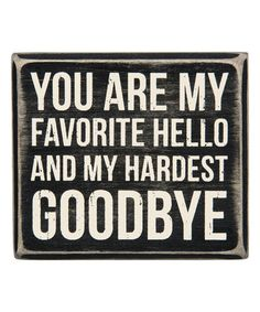 Another great find on #zulily! 'Favorite Hello' Wood Box Sign #zulilyfinds