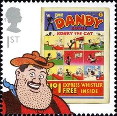 Great Britain Stamp - The Dandy and Desperate Dan. Newly added on Colnect. @ http://colnect.com/aff/da_1/stamps