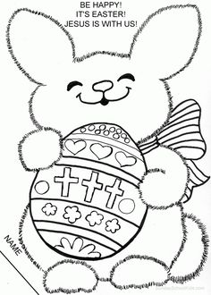 cute coloring page easter