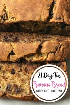 The BEST Gluten AND Dairy Free Banana Bread! So dreamy delicious, this 21 Day Fix Banana Bread is dairy, gluten, refined sugar, and oil free.but rivals even the best unhealthy banana breads of my past! My kids are OBSESSED! 21 Day Fix Banana Bread 21 Day Fix Desserts, 21 Day Fix Snacks, 21 Day Fix Diet, 21 Day Fix Meal Plan, Week Diet, Gluten Free Banana Bread, Healthy Banana Bread, Banana Bread Recipes, Clean Banana Bread