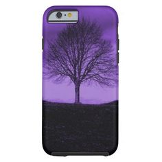 One Lone Tree Silhouette Purple Nature Landscape iPhone 4 Cases SOLD on Zazzle