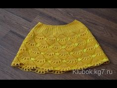 Very beautiful yellow skirt for a little girl. Simple and light pattern to crochet Crochet Baby Dress Pattern, Crochet Pants, Crochet Skirts, Crochet Baby Clothes, Baby Knitting Patterns, Crochet Patterns, Crochet For Kids, Free Crochet, Knit Crochet