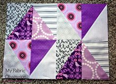 Half Rectangle Triangles Tutorial at My Fabric Obsession.