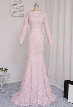 Party fashion women long sleeve 30 Ideas for 2019 Dress Brukat, Hijab Dress Party, Kebaya Dress, Dress Long, Trendy Dresses, Modest Dresses, Bridesmaid Dresses, Prom Dresses, Muslim Wedding Gown