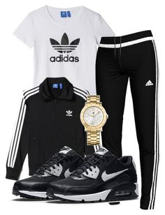 """""""ADIDASSS"""" by rabiamiah on Polyvore featuring adidas, Tommy Hilfiger and NIKE"""