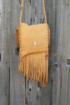 Fringed leather handbag ,  Handmade leather purse , Leather crossbody handbag , Leather handbag by thunderrose - pinned by pin4etsy.com