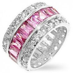 Pink diamond ring. I love these thick bands!!! Can't get enough of them