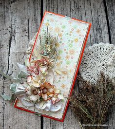 Card: Gift envelope / card with flowers
