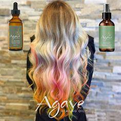 L'arcobaleno sui tuoi capelli può splendere per sempre (o quasi): rendilo morbido e luminoso con i prodotti Agave, olio e spray a base di estratti naturali di Agave Azzurra per avere sempre capelli degni di una dea!