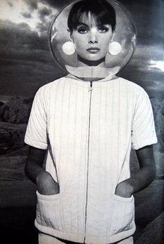 Futuristic Jean Shrimpton for Vogue.