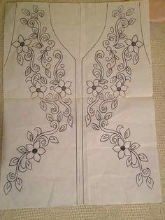 Výsledok vyhľadávania obrázkov pre dopyt neck line art work Mexican Embroidery, Hand Work Embroidery, Embroidery On Clothes, Hand Embroidery Stitches, Machine Embroidery Patterns, Hand Embroidery Designs, Ribbon Embroidery, Floral Embroidery, Cross Stitch Embroidery